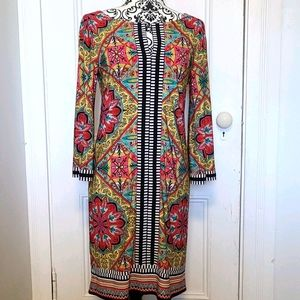 Laundry by Shelli Segal sheath dress boho style